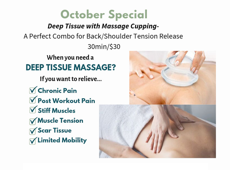 October Special - Deep Tissue with Massage Cupping